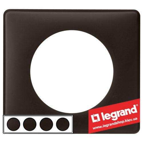 Рамка 4-я Legrand Celiane 66744 (черная перкаль)