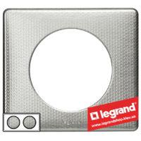 Рамка 2-я Legrand Celiane 68722 (сильвер пунктум)