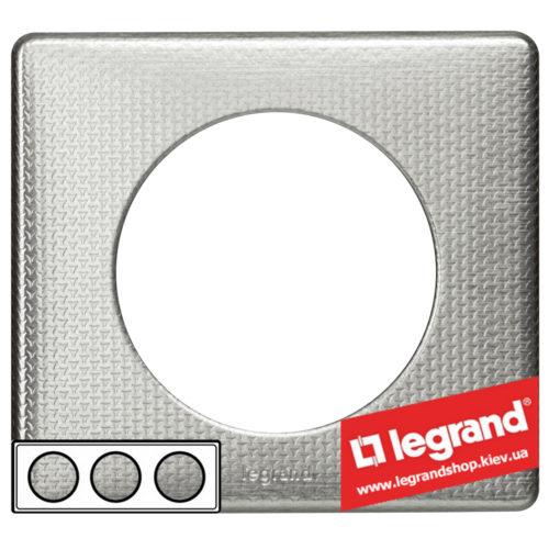 Рамка 3-я Legrand Celiane 68723 (сильвер пунктум)