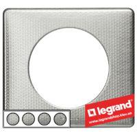 Рамка 4-я Legrand Celiane 68724 (сильвер пунктум)
