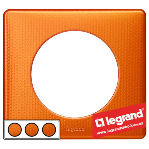 Рамка 3-я Legrand Celiane 68763 (оранж пунктум)