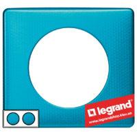 Рамка 2-я Legrand Celiane 68772 (лазурный пунктум)