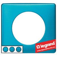 Рамка 3-я Legrand Celiane 68773 (лазурный пунктум)