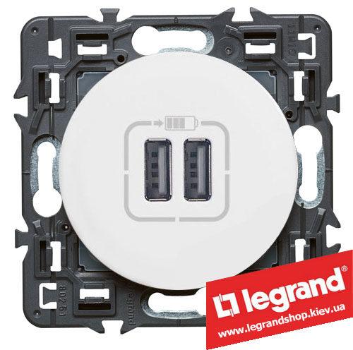 Розетка USB Legrand Celiane для зарядки двойная (белая)