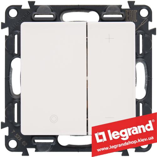 Светорегулятор кнопочный Legrand Valena Life 400Вт 752462 (белый)