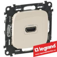 Розетка HDMI Valena Allure 754716 (слоновая кость)