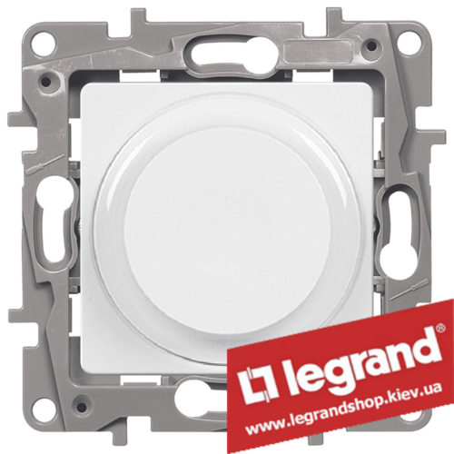 Светорегулятор поворотный Legrand Etika 5-300Вт (белый)