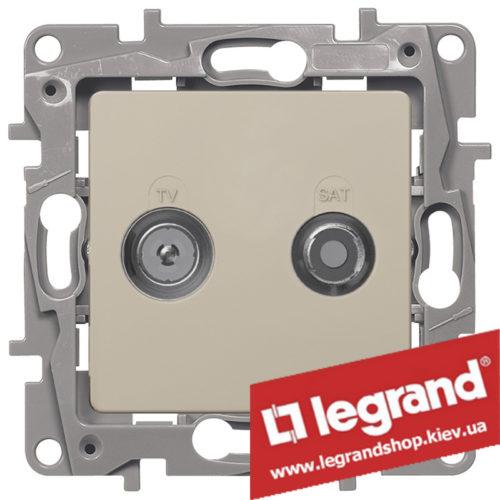 Розетка TV+SAT Legrand Etika на 2 кабеля 672357 (слоновая кость)