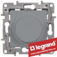 Светорегулятор поворотный Legrand Etika 5-300Вт (алюминий) 672419