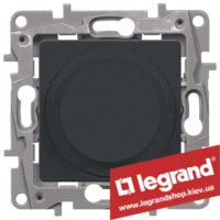 Светорегулятор поворотный Legrand Etika 5-300Вт (антрацит) 672619