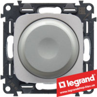 Светорегулятор поворотный 300Вт Valena Allure 752960 (алюминий)