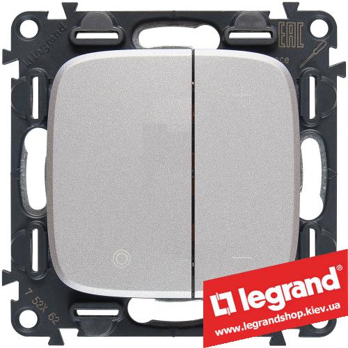 Светорегулятор кнопочный Legrand Allure Life 400Вт 752962 (алюминий)