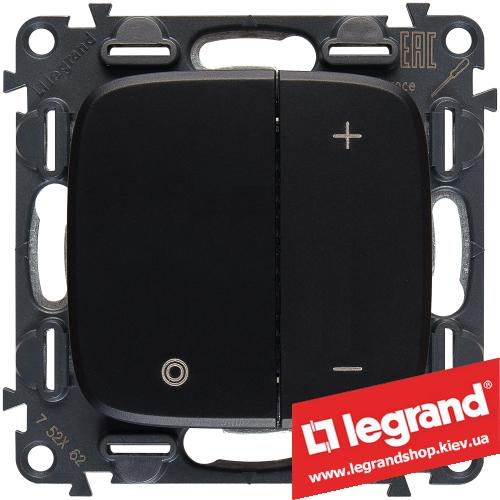 Светорегулятор кнопочный Legrand Allure Life 400Вт (антрацит)