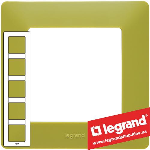 Рамка пятипостовая Valena Life 754085 (лайм)