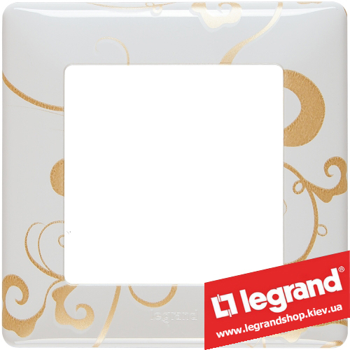 Рамка однопостовая Valena Life 754101 (ампир белый)