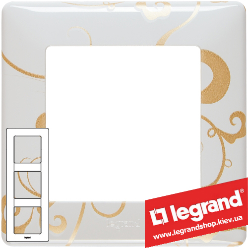 Рамка трехпостовая Valena Life 754103 (ампир белый)