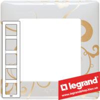 Рамка пятипостовая Valena Life 754105 (ампир белый)
