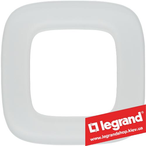 Рамка однопостовая Valena Allure 755541 (белое стекло)