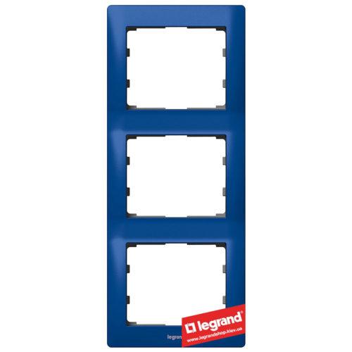 Рамка 3-я вертикальная Legrand Galea Life 771917 (магический синий)
