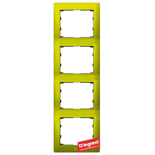 Рамка 4-я вертикальная Legrand Galea Life 771928 (магический зеленый)